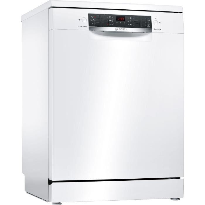 Bosch Sms46jw03e Lave Vaisselle 13 Couverts L 60 Cm 44db A Blanc Lave Vaisselle Pose Libre Lave Vaisselle Lave Vaisselle Encastrable