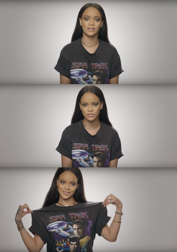 Rihanna talks about Star Trek