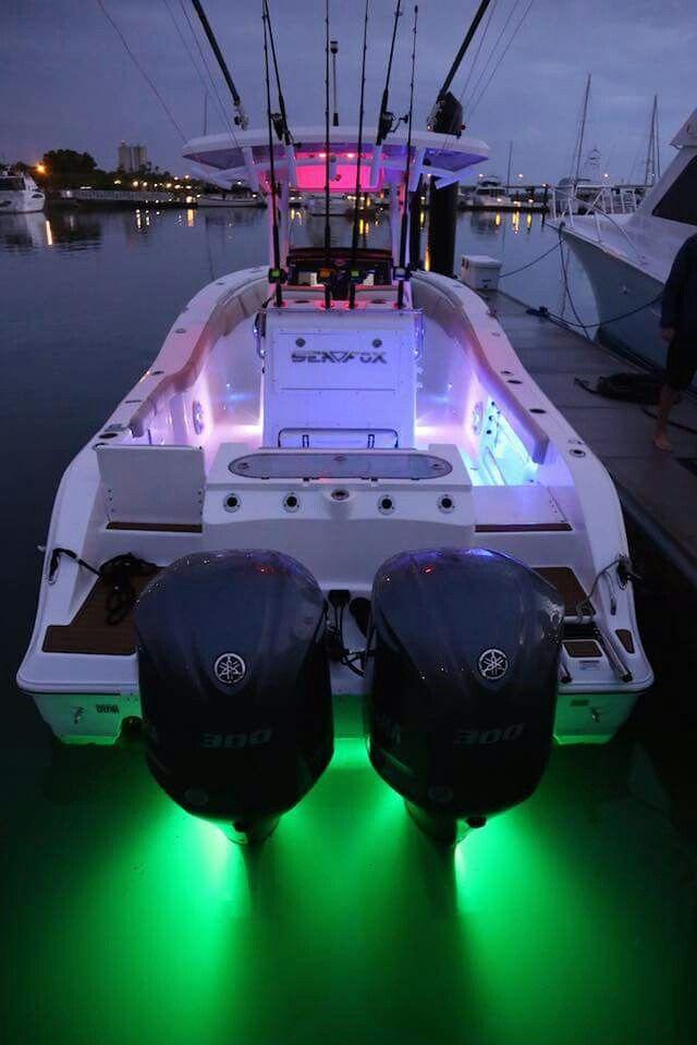 Sexy lighting on this Sea Fox center console.