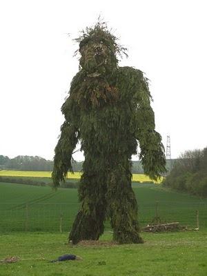 Wickerman effigy/sacrifice... atButser Ancient Farm as part of Beltane celebrations.