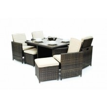 5 Piece Rattan All Weather Cube Set