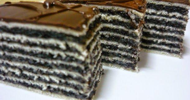 Receptek, cikkek oldala: Mákos torta