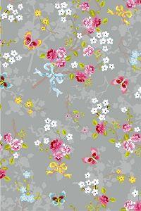 PiP Chinese Rose Grey wallpaper