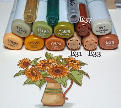 autumn abundance--I really ought to pick up some more Copic markers..