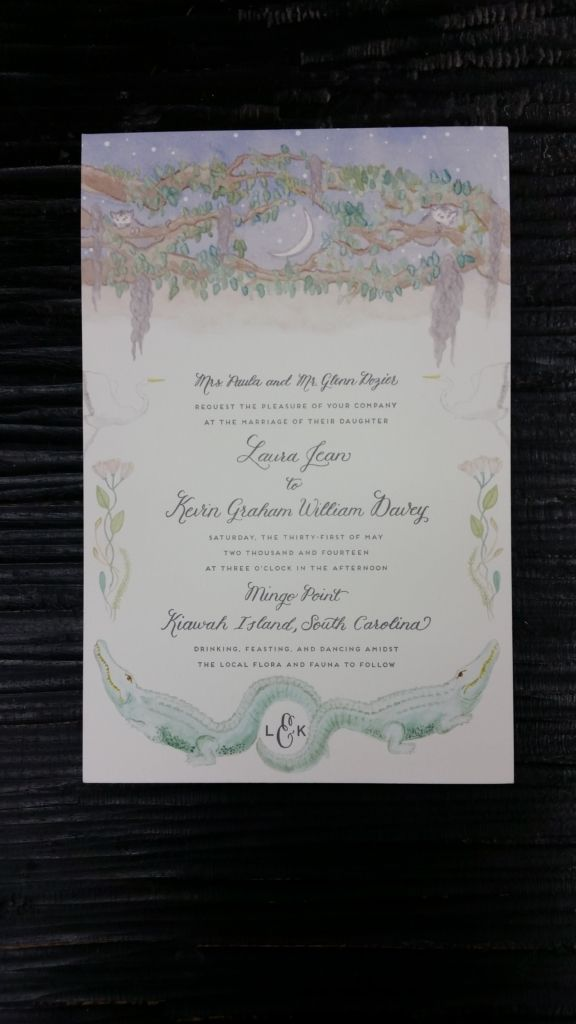 wedding invitations for less than dollar%0A wedding invite custom invitations cmyk pantone watercolor family monogram  nyc printing