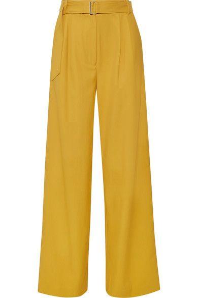Tibi - Stella Twill Wide-leg Pants - Marigold - US12
