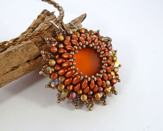 Sun Flower Pendant Summer Necklace Luna Soft by BeauBellaJewellery