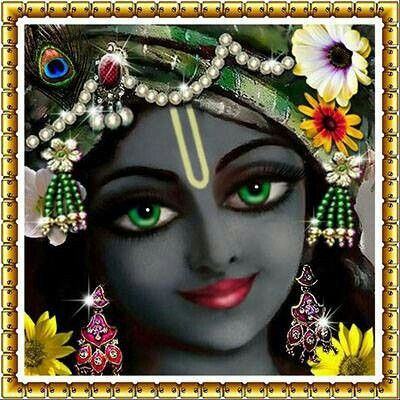 lord krishna face • painting • inspired by krsna