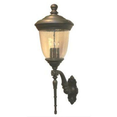 "Tuscany TC3700 Series 39.5"" Wall Lantern Finish: Patina Bronze by Melissa Lighting. $496.99. TC375124-PB Finish: Patina Bronze Features: -Wall lantern.-Seedy glass panel.-Electronic ballast EBPL: 13-26-32 (four pin).-UL Listed. Options: -Available in Black, White, Old Iron, Architectural Bronze, Rusty Nail, Old Bronze, Old World, Aged Silver, Patina Bronze and Old Copper finishes. Construction: -Cast aluminum construction. Specifications: -Accommodates(3) 60W Candelabra bulb..."