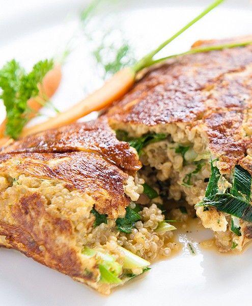 LUNCH: Quinoa groenteomelet