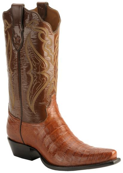Tony Lama Signature Series Embroidered Caiman Belly Cowboy Boots - Snip Toe available at #Sheplers