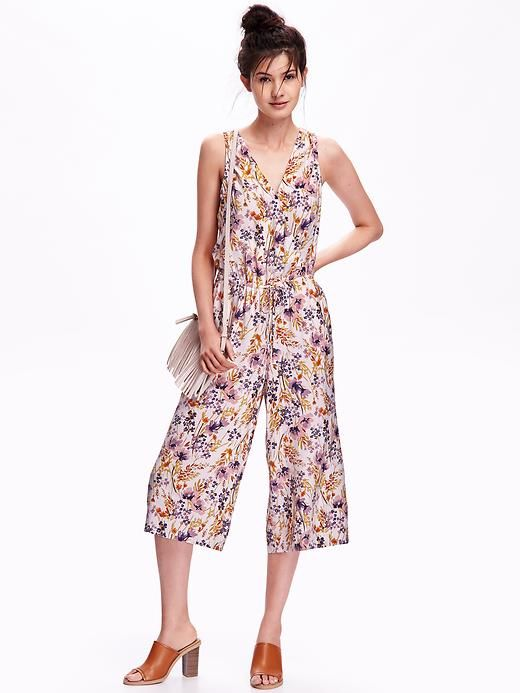 Floral V-Neck Jumpsuit for Women | I Wanna Dress You Up in My Love ...
