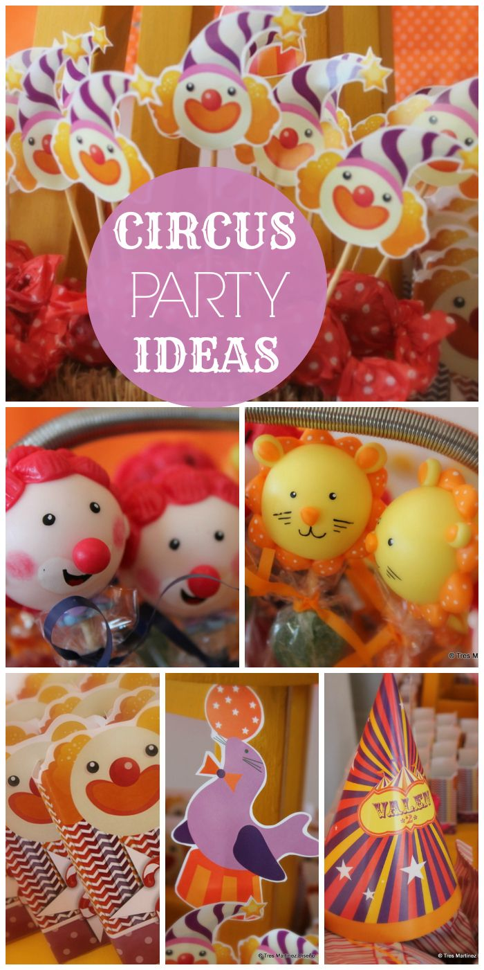 What a fun Circus themed boy birthday party with lots of decorations and treats!  See more party ideas at CatchMyParty.com!
