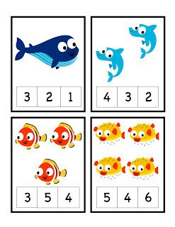 Preschool Printables: Ocean Life Printable 2