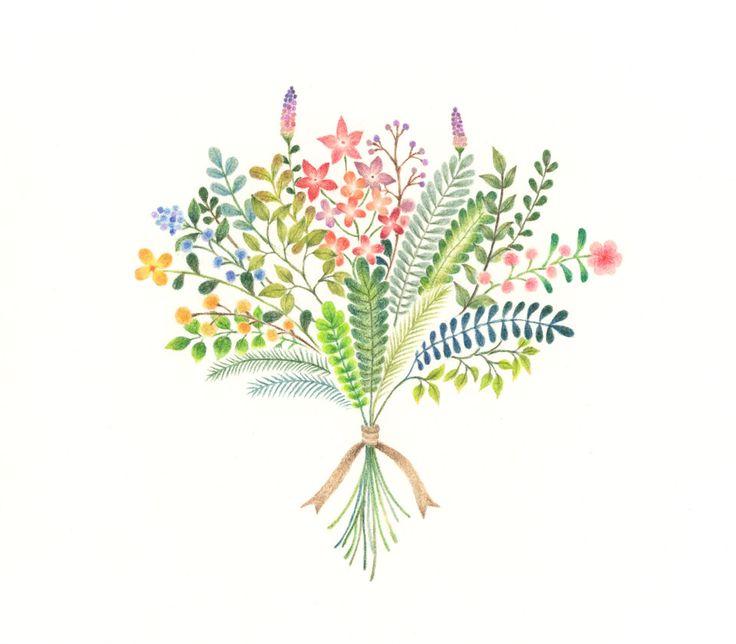 """Rainbow Bouquet"" −RiLi, picture book, illustration, design ___ ""虹色の花束"" −リリ, 絵本…"