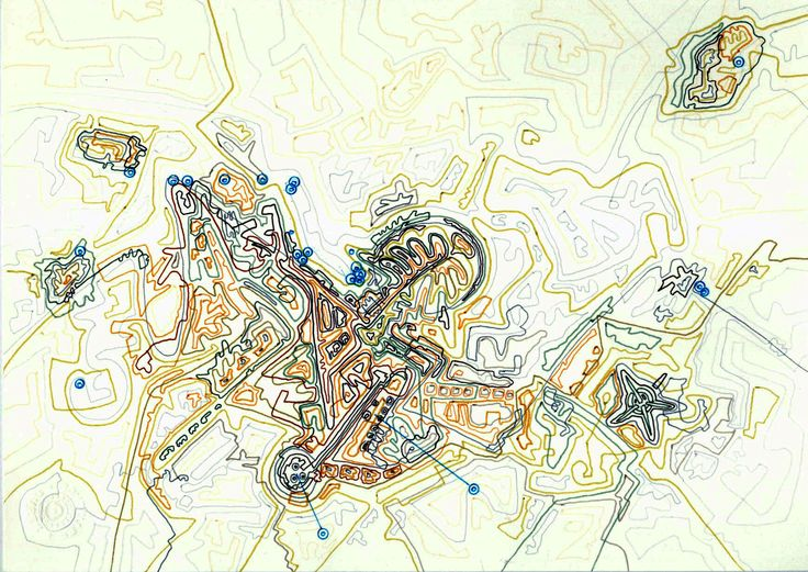 Giorgos Papadatos,  Corporate city map 8. Drawing. marker on paper.20X30 cm. 2007