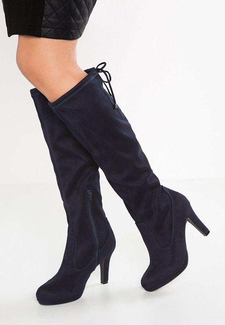 Minetom Damen Winter Sexy High Heels Overknee Stiefel Damenstiefel Boots Schuhe Stiefel  40Schwarz