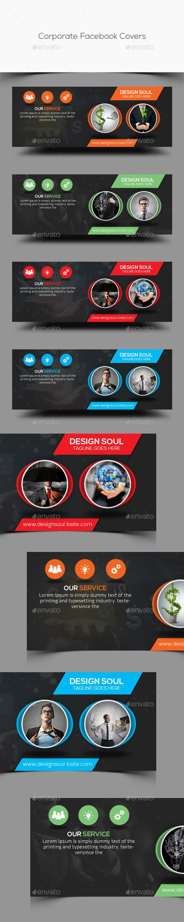 Corporate Facebook Covers PSD Template #design Download: http://graphicriver.net/item/corporate-facebook-covers/12491848?ref=ksioks