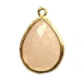 druppel hanger facet jade verguld goud bedel sieraden ketting