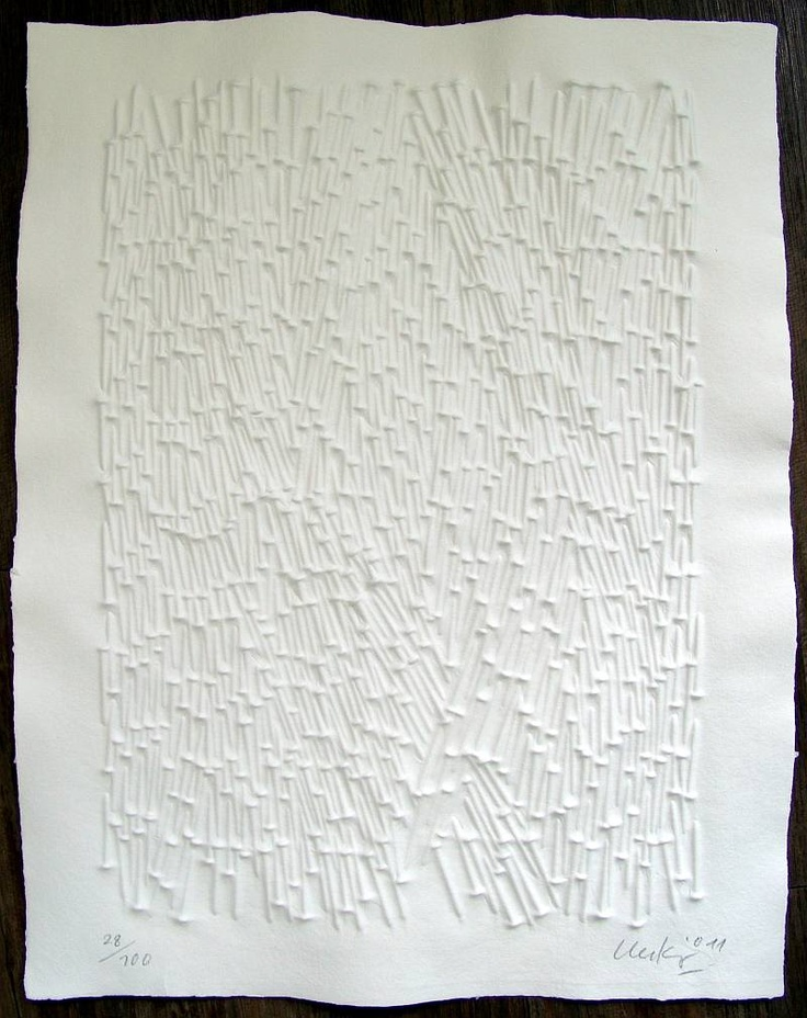 Günther Uecker, 'Strahlung', 2011, paper