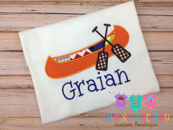 Baby boy canoe outfit  Personalized baby boy by SewSoDarling,