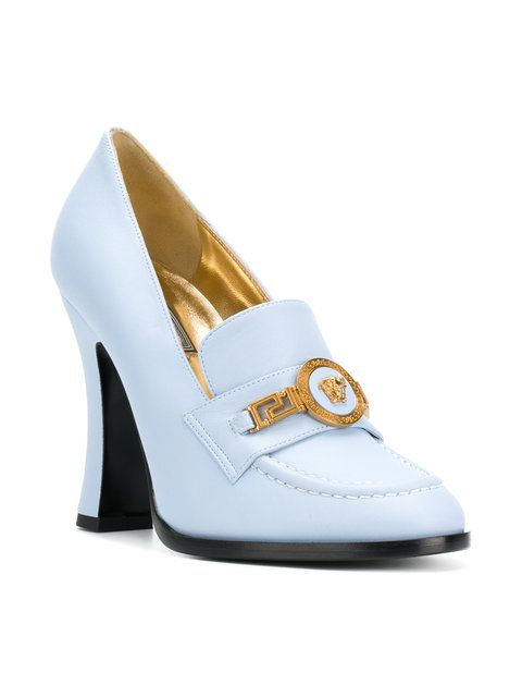 55ca8ceb27c6 Versace Medusa Badge Pumps - Farfetch