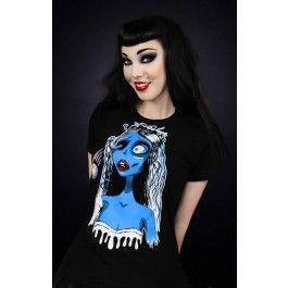 Tee Shirt Gothique Rock Corpse Bride Les Noces Funèbres