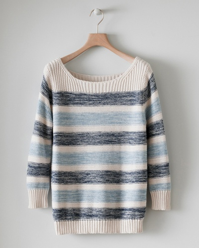 poetry striped pullover