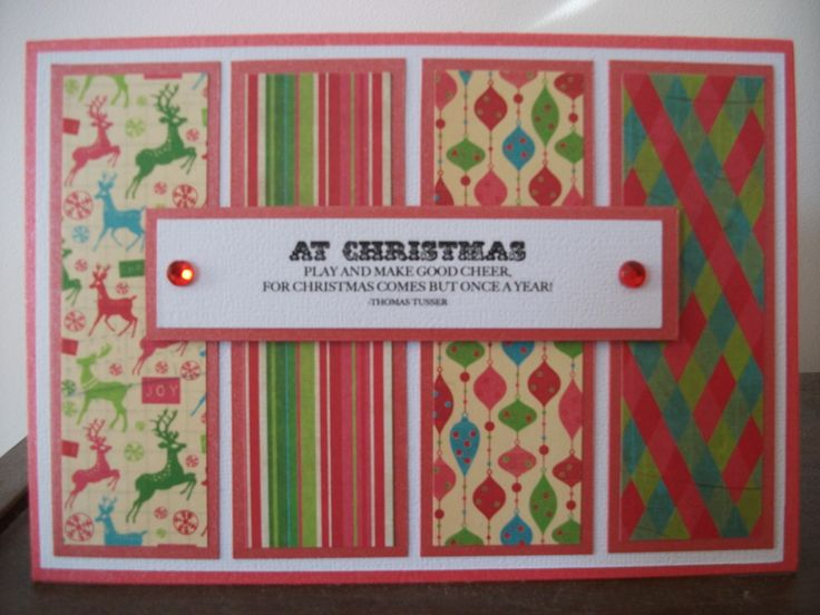 Fun and funky Christmas card using Rosie's Studio Just Jolly paper stack.