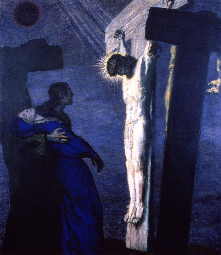 Crucifixion. Franz von Stuck - 1913