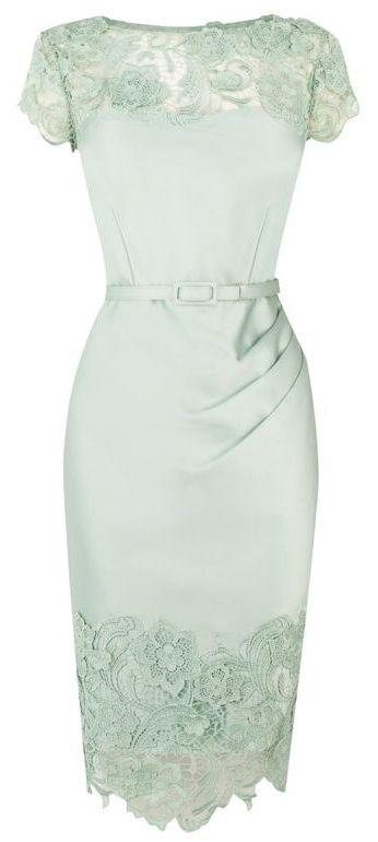 Pretty rather vintage-looking mint dress.