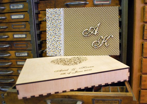 wood wedding guest book photo album personilized by WoodYourDay