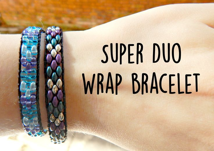DIY Twin Bead/Super Duo Wrap Ladder Bracelet ¦ The Corner of Craft