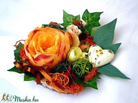 Virágtál bazsarózsával (pinkrose) - Meska.hu