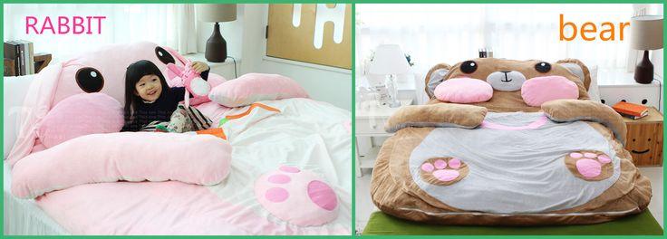 Aliexpress.com: Comprar Oso de dibujos animados tatami piso colchoneta saco de dormir doble cama pelotita de bolsas de puma confiables proveedores de WANGYOUWANGSHANGPU.