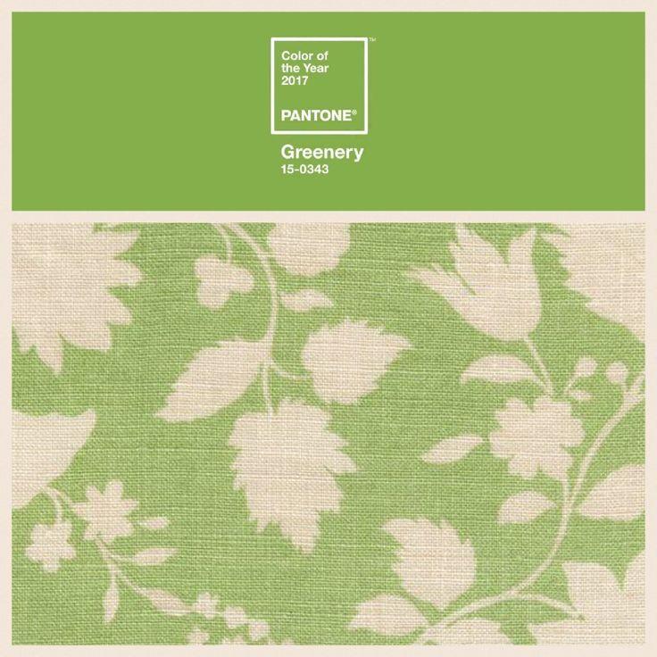 Inchyra 'Speedwell' Aged Linen in Sage   #PantoneColouroftheYear2017 #greenery
