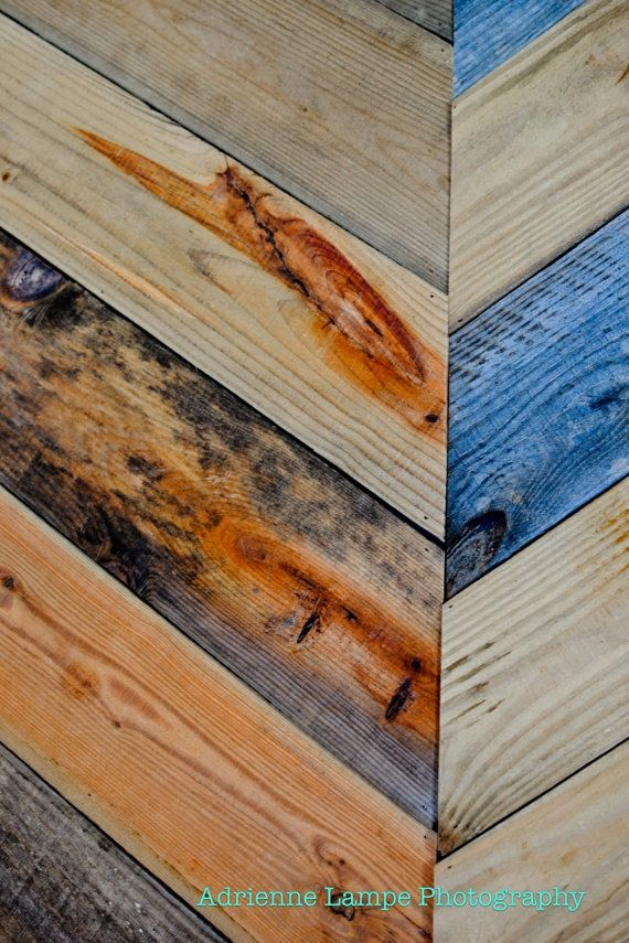 45 best painted wood walls and trim images on pinterest for Reclaimed pallet wood wall