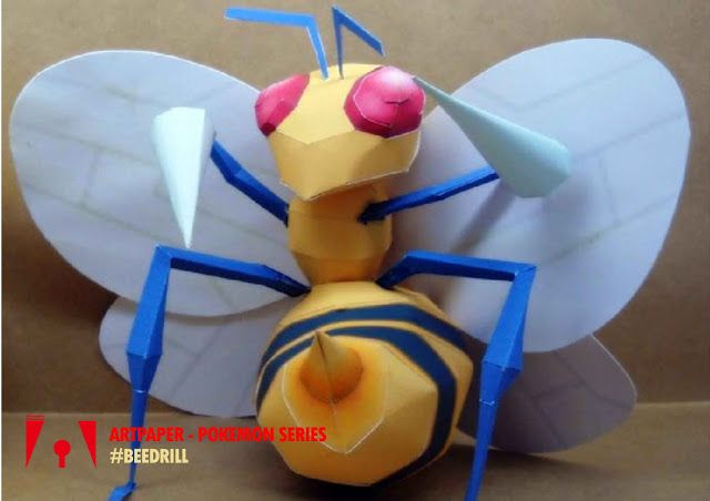 Workshop Artpaper: Pokemon Beedrill