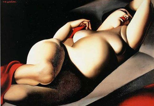 Tamara De Lempicka | I have this on a large canvas also. Love this artist.