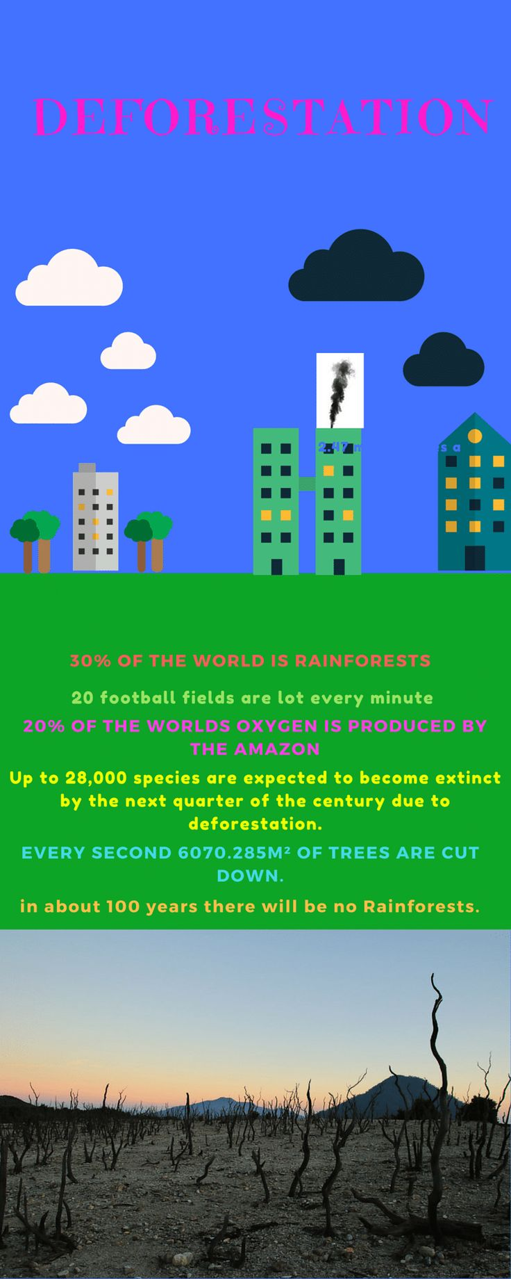 deforestation 2.47 million trees a day 30% of the world is rainfore...