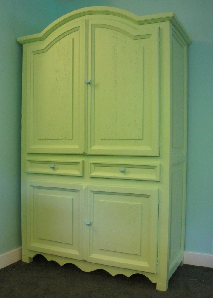 Armoire that I painted  Furniture refinishing projects