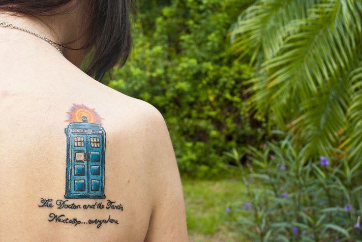 fuckyeahtattoos:  My Tardis tattoo Done by Scottie Meyers at Deuce's Wild Tattoo in Florida.