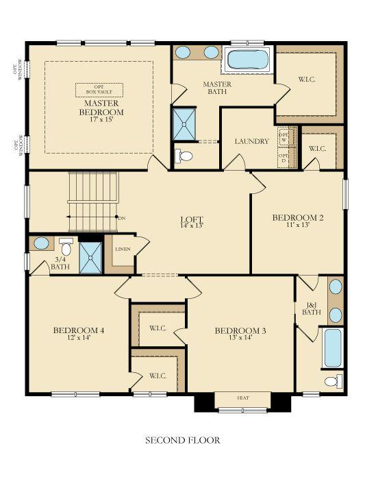 56 best lennar minnesota floor plans images on pinterest for Master floors mn