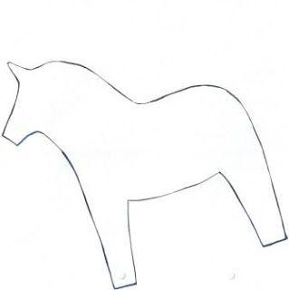 Am Eichenbaum: DALA-Pferd - Vorlage als PdF-Download