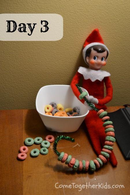 Week of Elf on the shelf ideas…I dislike this creepy guy…but laney likes him