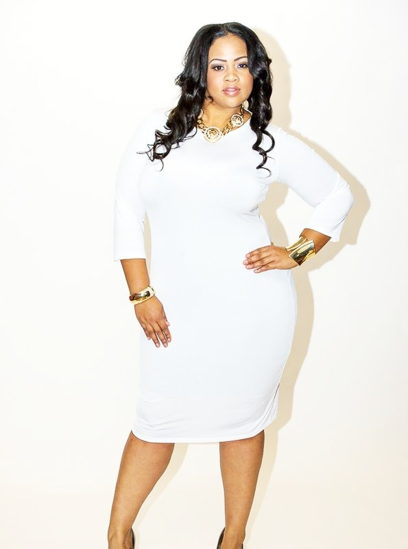 all white plus size bodycon dresses - holiday dresses