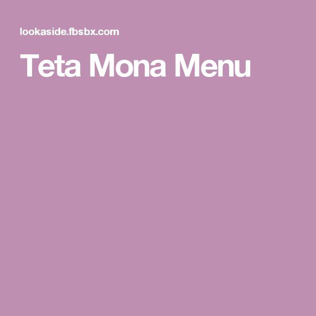 Teta Mona Menu