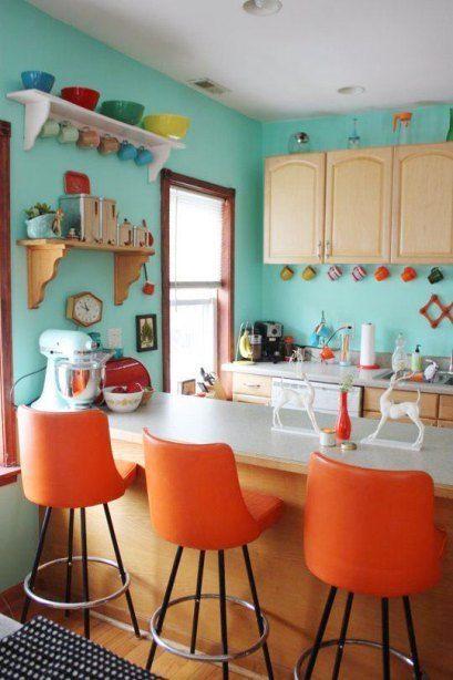 great colorful retro kitchen