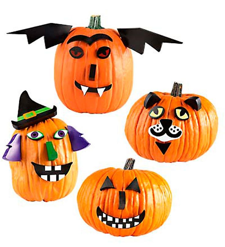 These Pumpkin Decorating Kits are quick and easy to apply without all the mess..................and oh so SPOOOOOKY. -- Julianna