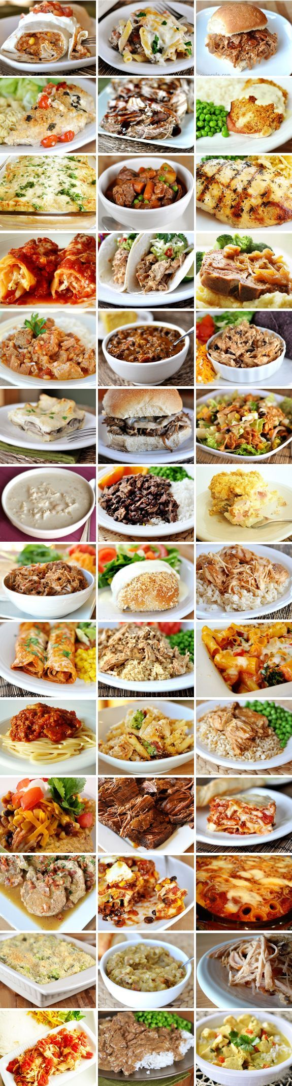 """40+ make ahead meals @ Mel's Kitchen Cafe---  """"All of these meals can be made ahead in some form or another – some are slow cooker meals, some can successfully be frozen and baked later, some can be assembled the night before or morning of and refrigerated until ready to bake."""""""